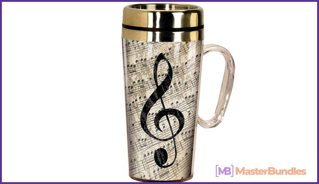 75+ Best Gifts for Musicians & Music Lovers in 2020 - music Insulated travel mug 8