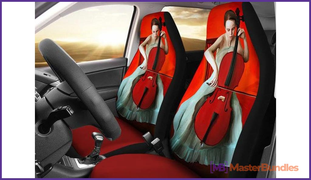 Music Car Seat Covers. Gifts fot Musicians.