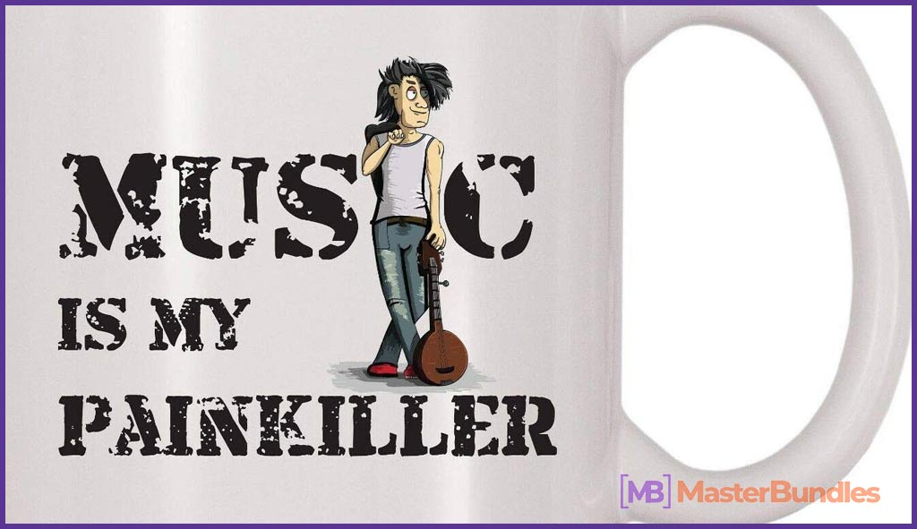 75+ Best Gifts for Musicians & Music Lovers in 2020 - music is my painkiller mug 8