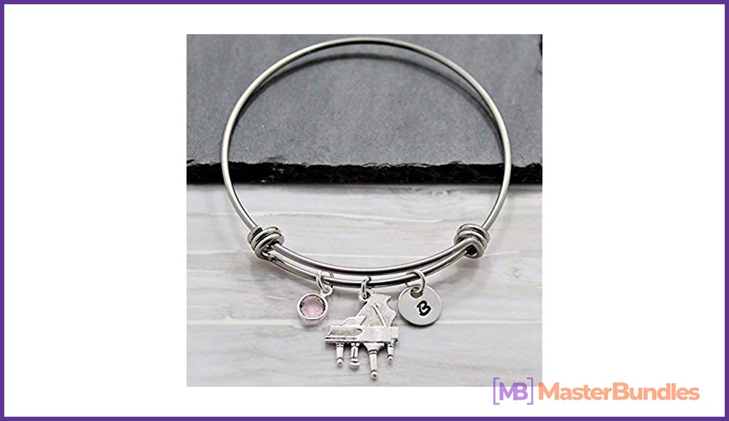 Piano Bracelet for Women. Gifts for Musicians.