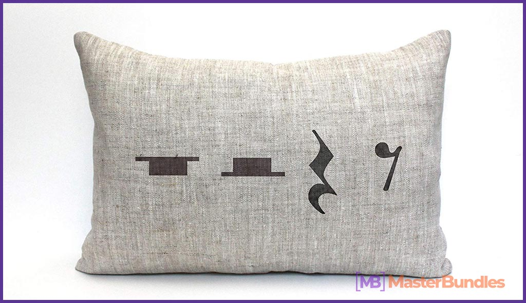 Pillow Case Music. Gifts for Musicians.