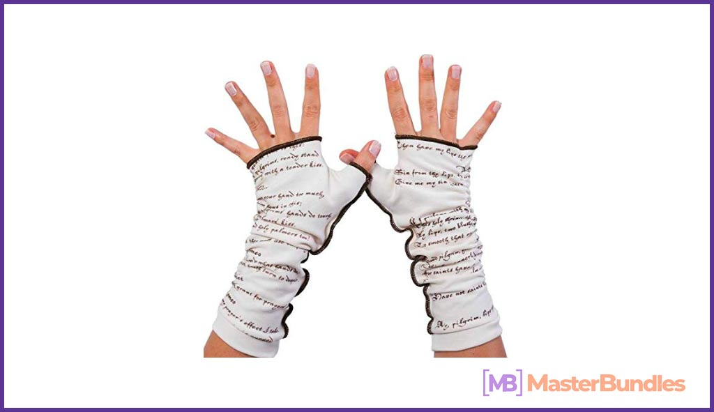 Romeo and Juliet Writing Gloves