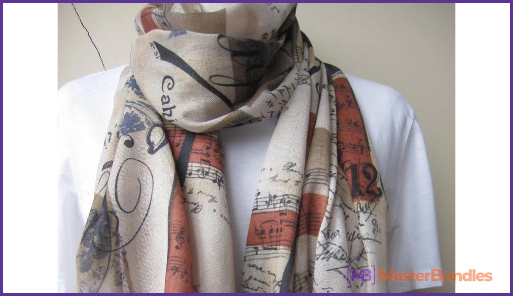 Scarf. Gifts for Musicians.