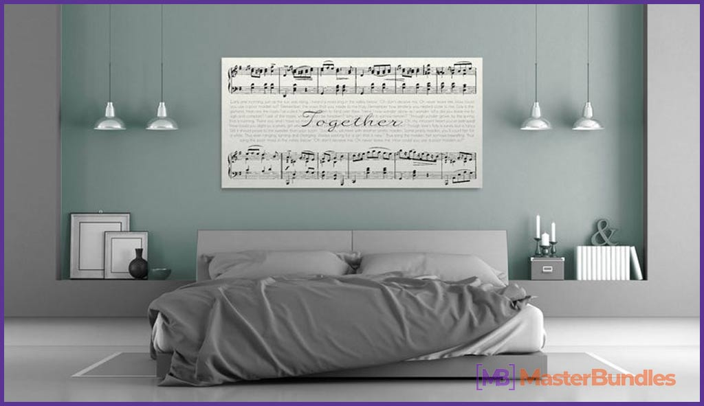 Sheet Music Canvas. Gifts for Musicians.