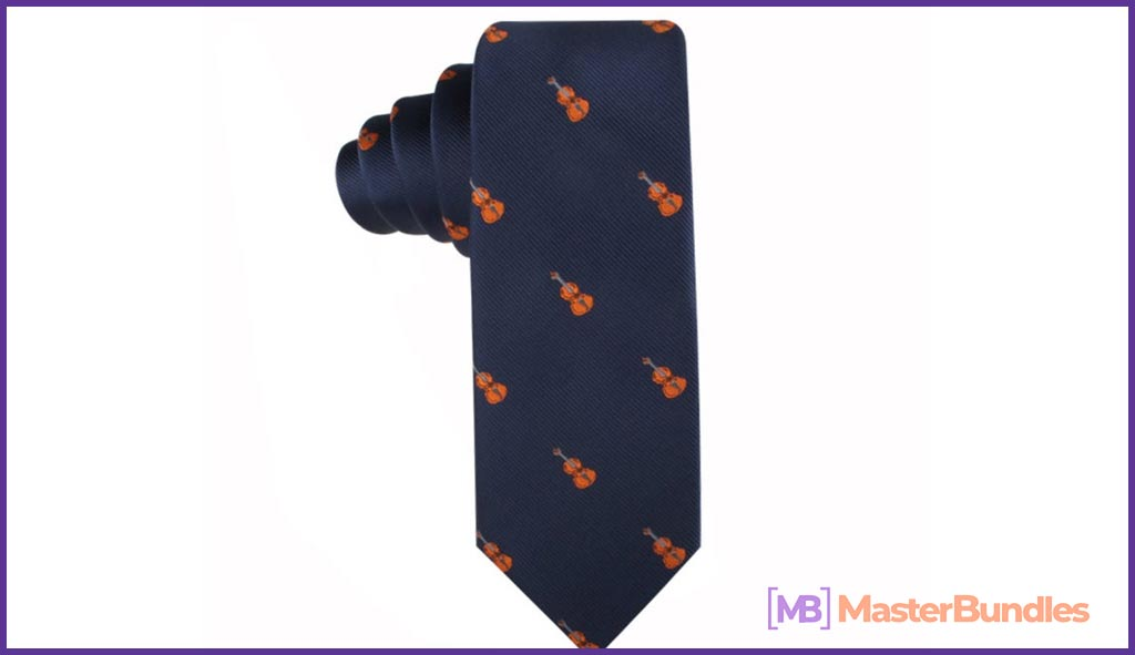 Violin Musician Ties. Gifts for Musicians