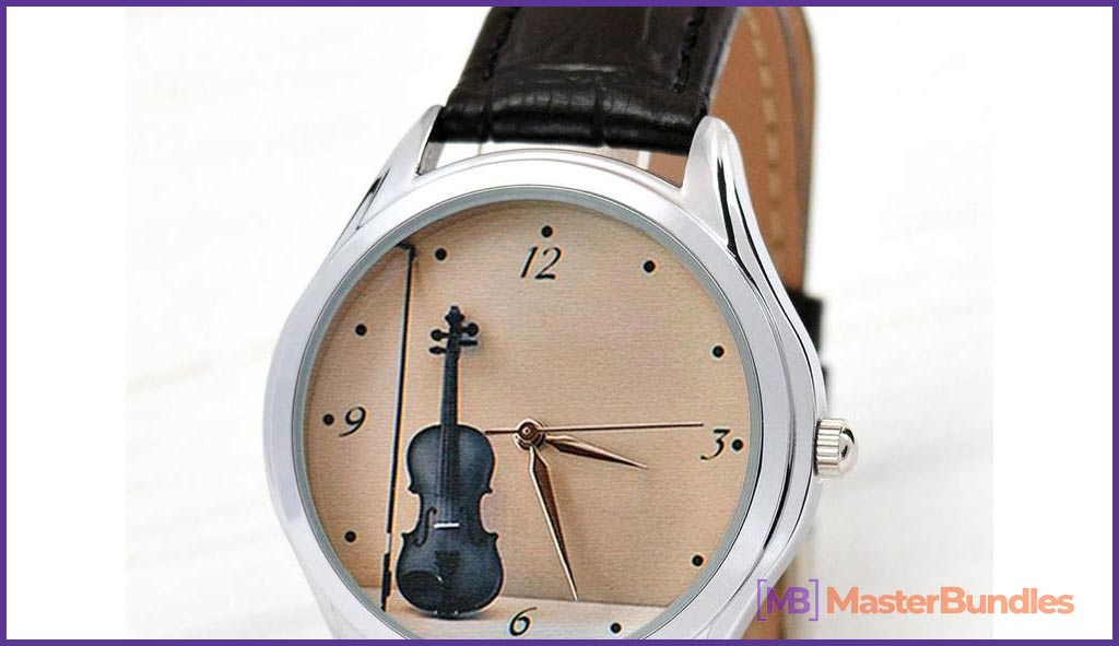 Violin Watch for Women. Gifts for Musicians.