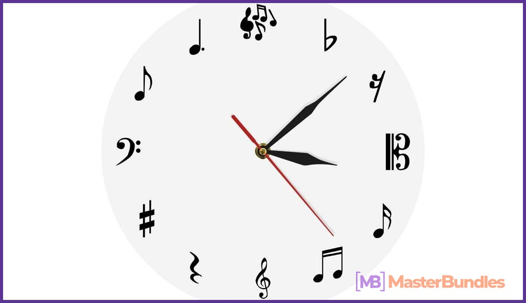 Wall Clock Music Studio. Gifts for Musicians