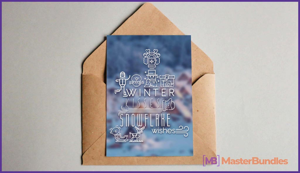 35+ Gifts for Writers in 2020 - Wow Your Favourite Wordsmith - winter typography postCard 17