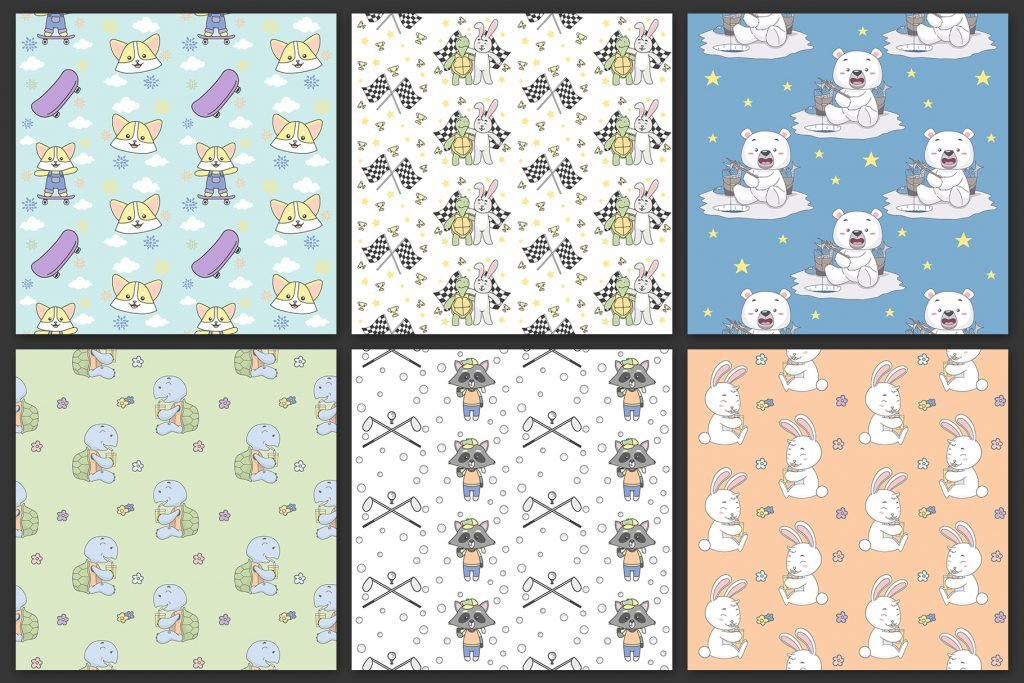 14 Seamless Pattern | Animal Activity -  $9 - Preview4