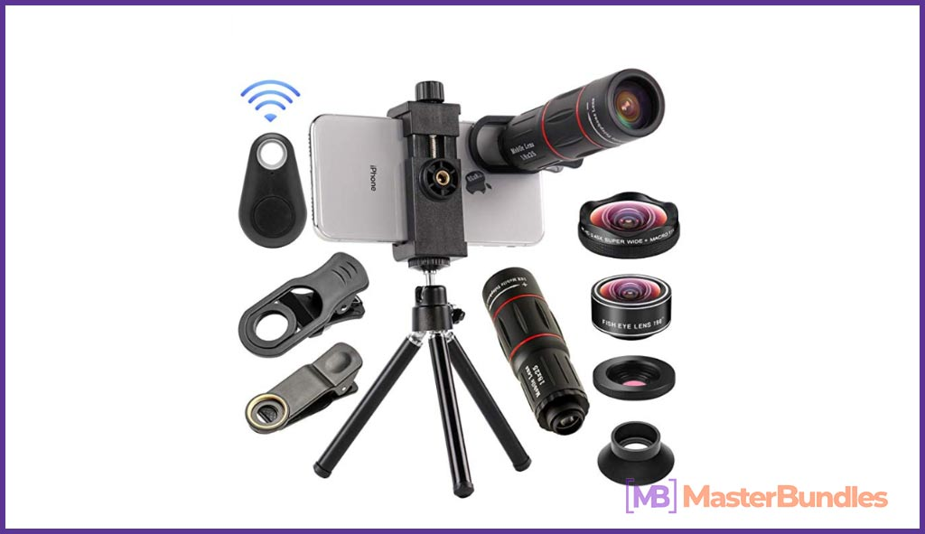 4 in 1 Cell Phone Camera Lenses Kit. Birthday Gifts for Photographers