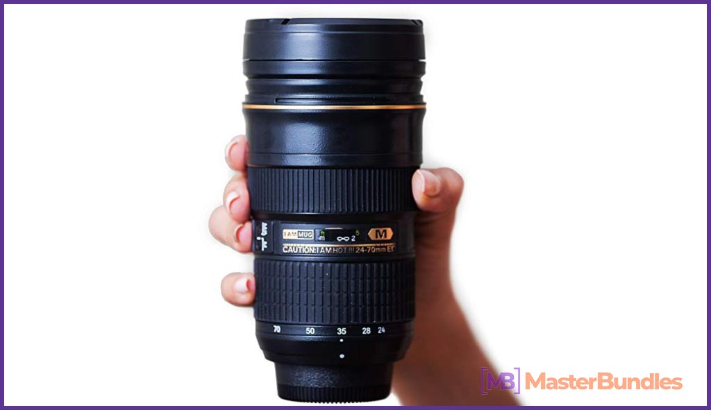 I am Mug Nikon 24-70mm Inspired Camera Lens Coffee Mug. Christmas Gifts for Photographers