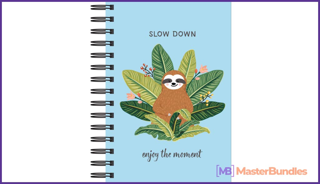Sloth Journal - Slow Down: Enjoy the Moment. Christmas Gifts for a Writer.