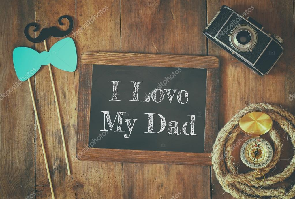 130+ Best Free Happy Fathers Day Graphics 2020: Images, Clipart, Fonts - depositphotos 110637604 stock photo top view image of fathers