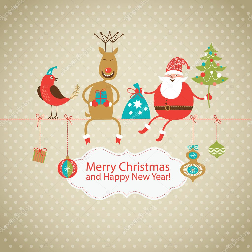 600+ Best Free Merry Christmas Images & New Year Pictures 2021 - depositphotos 13778616 stock illustration greeting christmas and new years