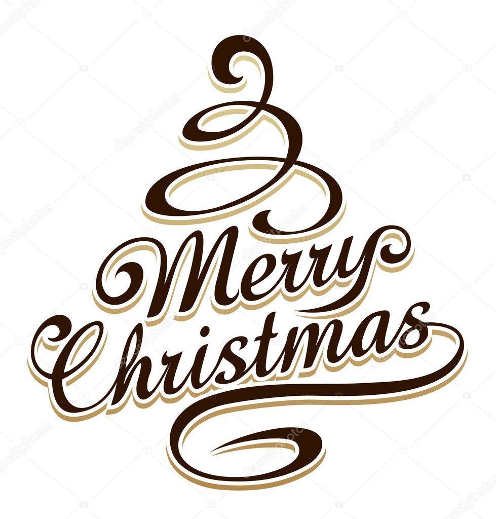 600+ Best Free Merry Christmas Images & New Year Pictures 2021 - depositphotos 14681657 stock illustration merry christmas typography