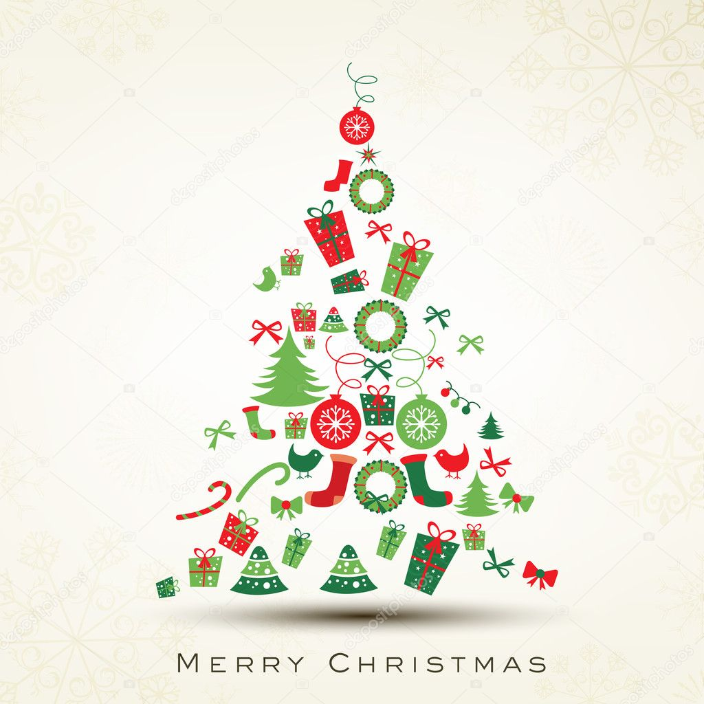 600+ Best Free Merry Christmas Images & New Year Pictures 2021 - depositphotos 14916445 stock illustration beautiful xmas tree for merry