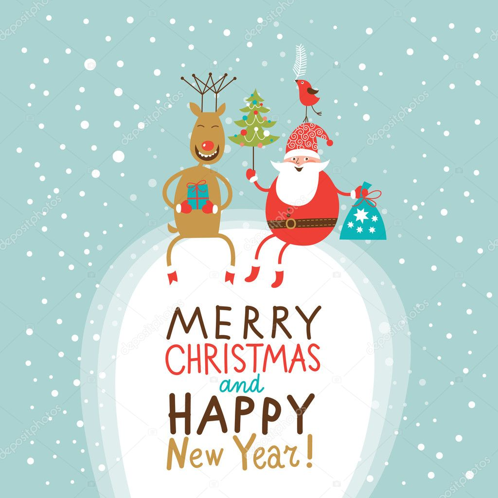 600+ Best Free Merry Christmas Images & New Year Pictures 2021 - depositphotos 14965079 stock illustration christmas and new year greeting