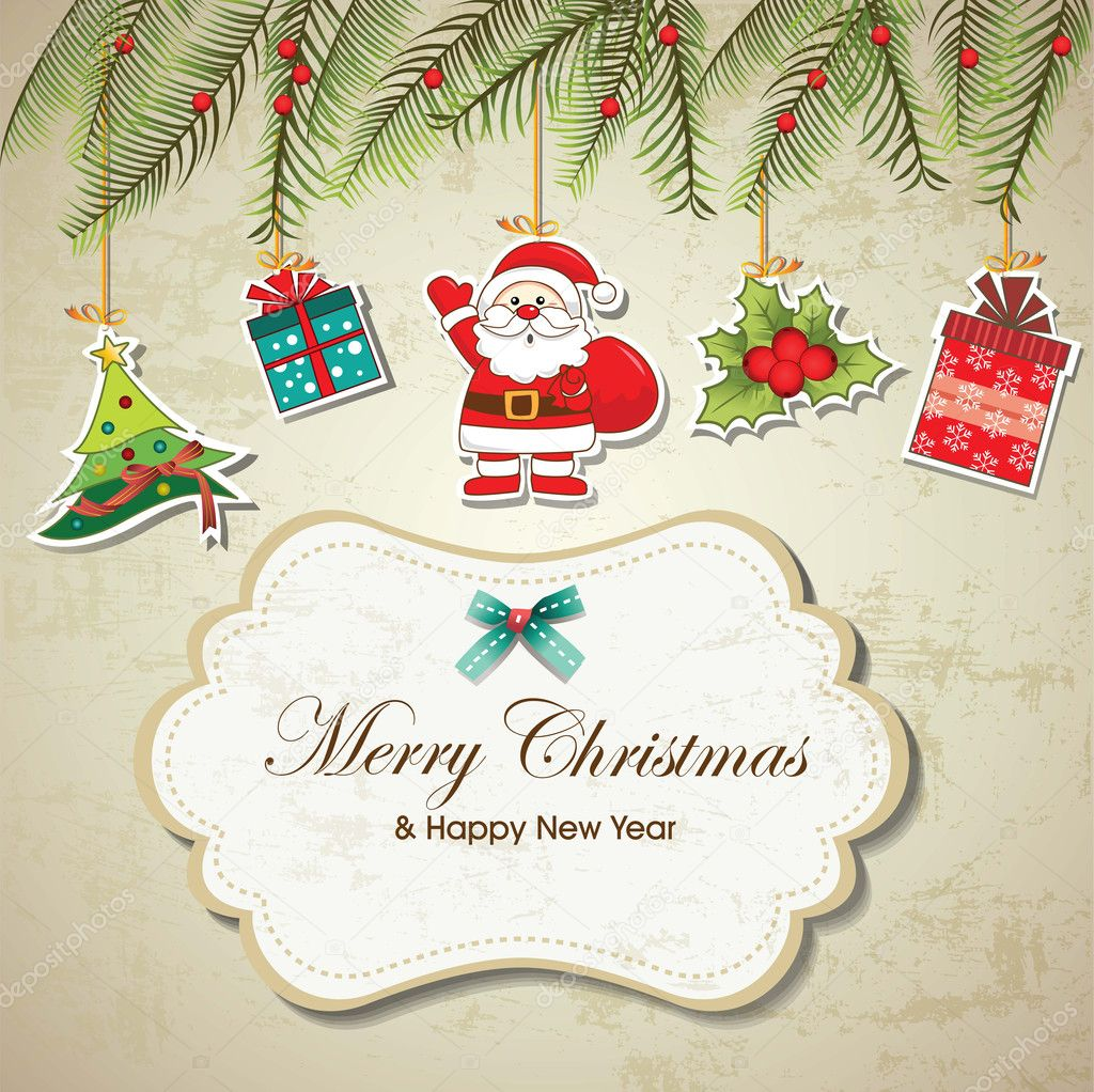600+ Best Free Merry Christmas Images & New Year Pictures 2021 - depositphotos 15363423 stock illustration vintage christmas background