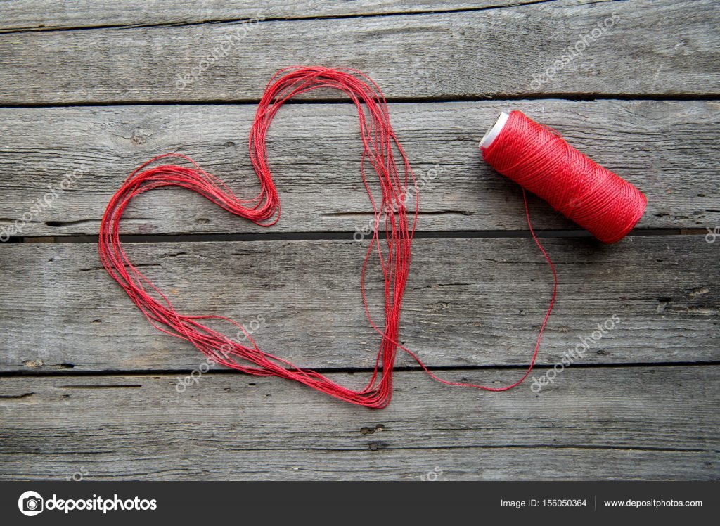 1000+ Free Happy Valentines Day Images - depositphotos 156050364 stock photo heart sign made from thread