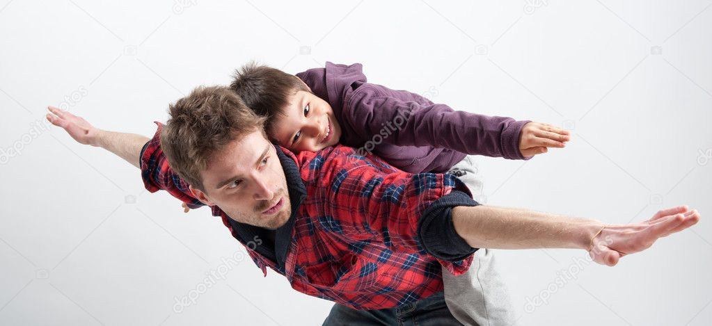 130+ Best Free Happy Fathers Day Graphics 2020: Images, Clipart, Fonts - depositphotos 15655383 stock photo young father and son playing