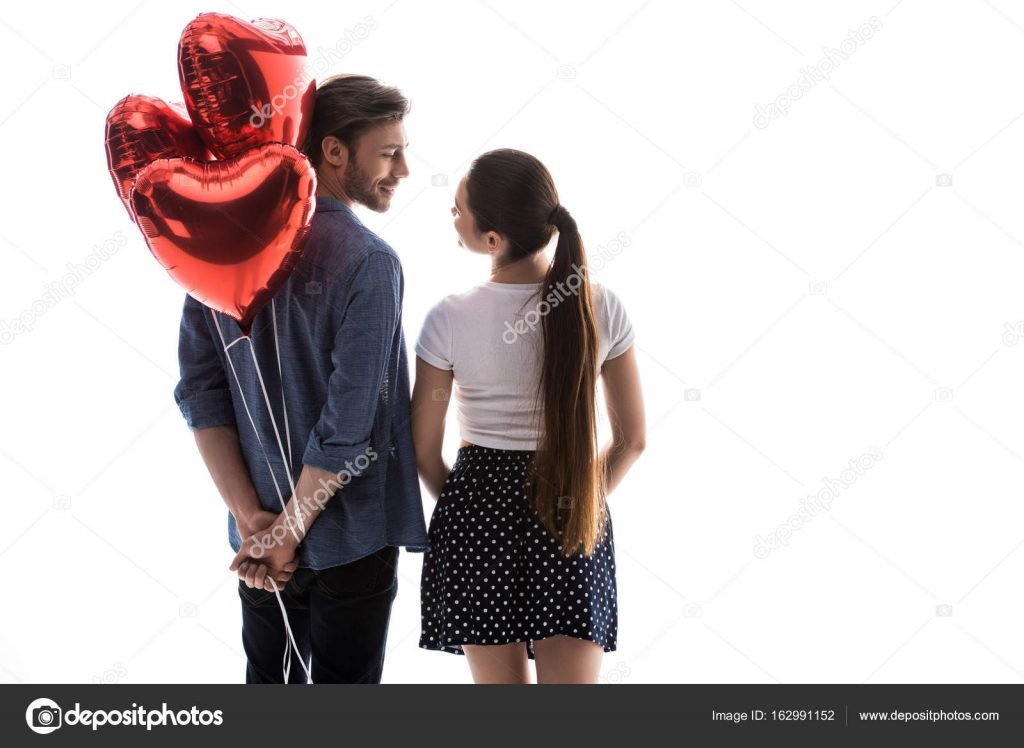 St. Valentines Day Stock Photos & Images. Photo Deal: 100 Royalty-free Photos & Vectors – $69! - depositphotos 162991152 stock photo couple with heart shaped balloons