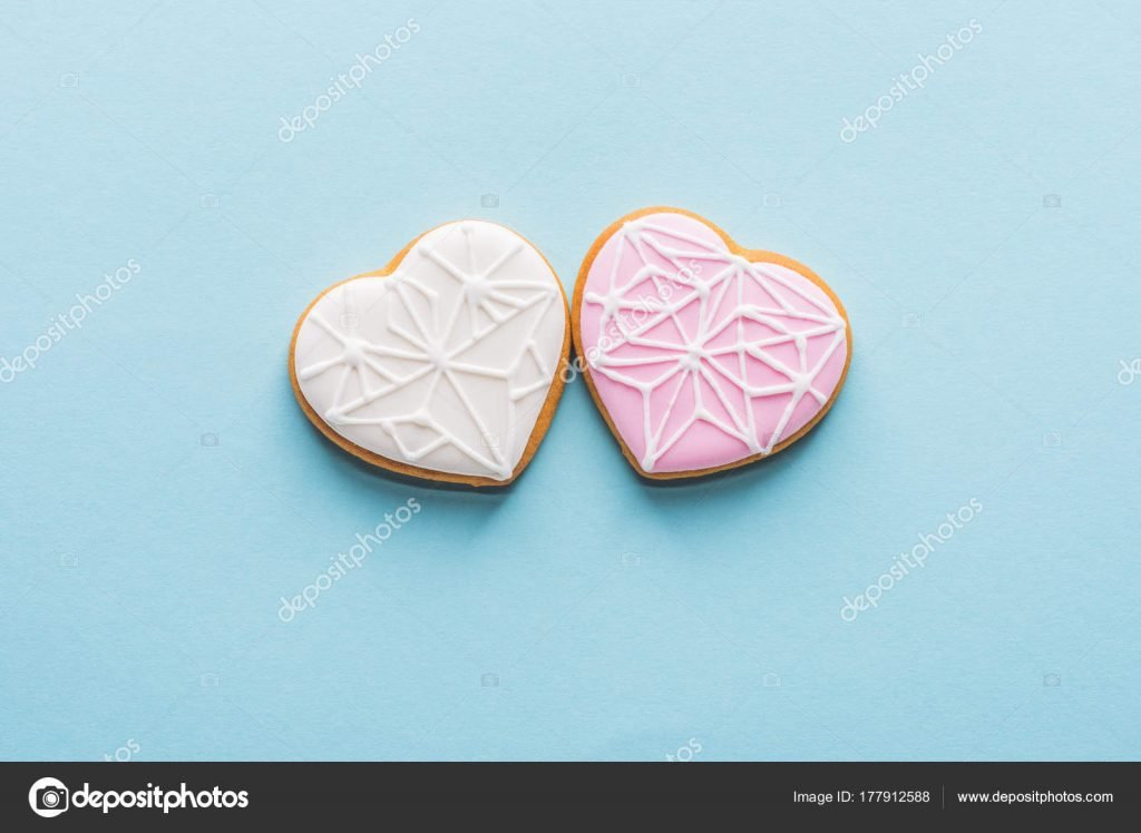 1000+ Free Happy Valentines Day Images - depositphotos 177912588 stock photo top view two glazed heart