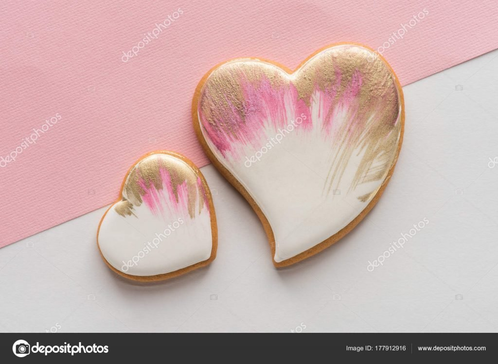 1000+ Free Happy Valentines Day Images - depositphotos 177912916 stock photo top view glazed heart shaped