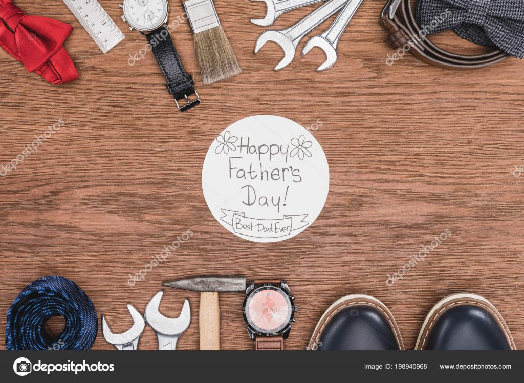 130+ Best Free Happy Fathers Day Graphics 2020: Images, Clipart, Fonts - depositphotos 198940968 stock photo top view happy father day