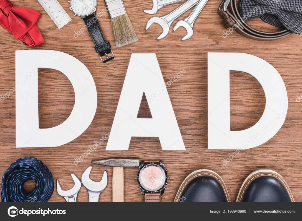130+ Best Free Happy Fathers Day Graphics 2020: Images, Clipart, Fonts - depositphotos 198940990 stock photo top view dad lettering surrounded
