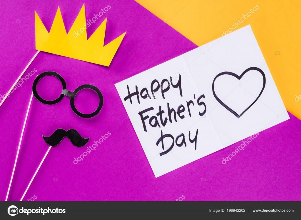 130+ Best Free Happy Fathers Day Graphics 2020: Images, Clipart, Fonts - depositphotos 198942202 stock photo top view king face gift