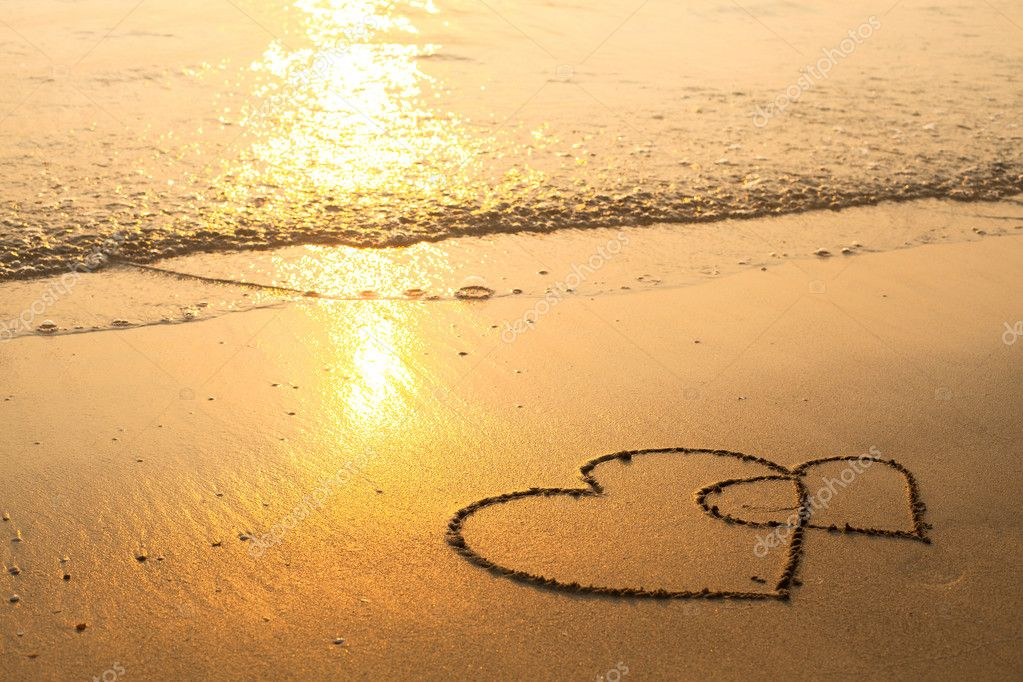 1000+ Free Happy Valentines Day Images - depositphotos 23061294 stock photo hearts drawn on the sand