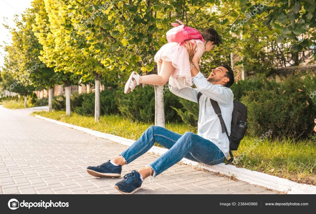 130+ Best Free Happy Fathers Day Graphics 2020: Images, Clipart, Fonts - depositphotos 238440966 stock photo horizontal image handsome happy father
