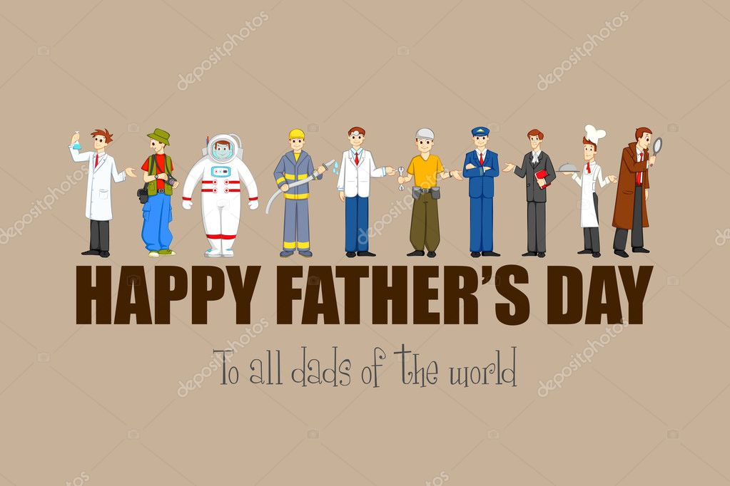 130+ Best Free Happy Fathers Day Graphics 2020: Images, Clipart, Fonts - depositphotos 25948161 stock illustration happy fathers day