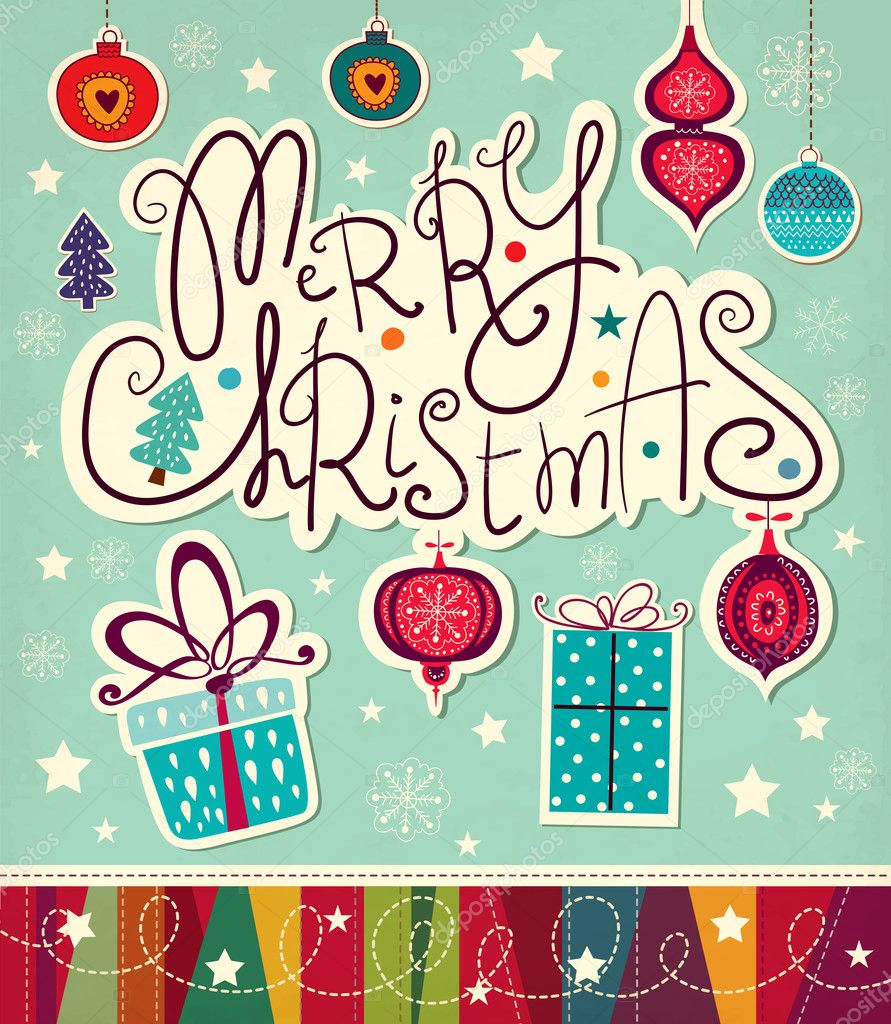 600+ Best Free Merry Christmas Images & New Year Pictures 2021 - depositphotos 34081125 stock illustration merry christmas and happy new