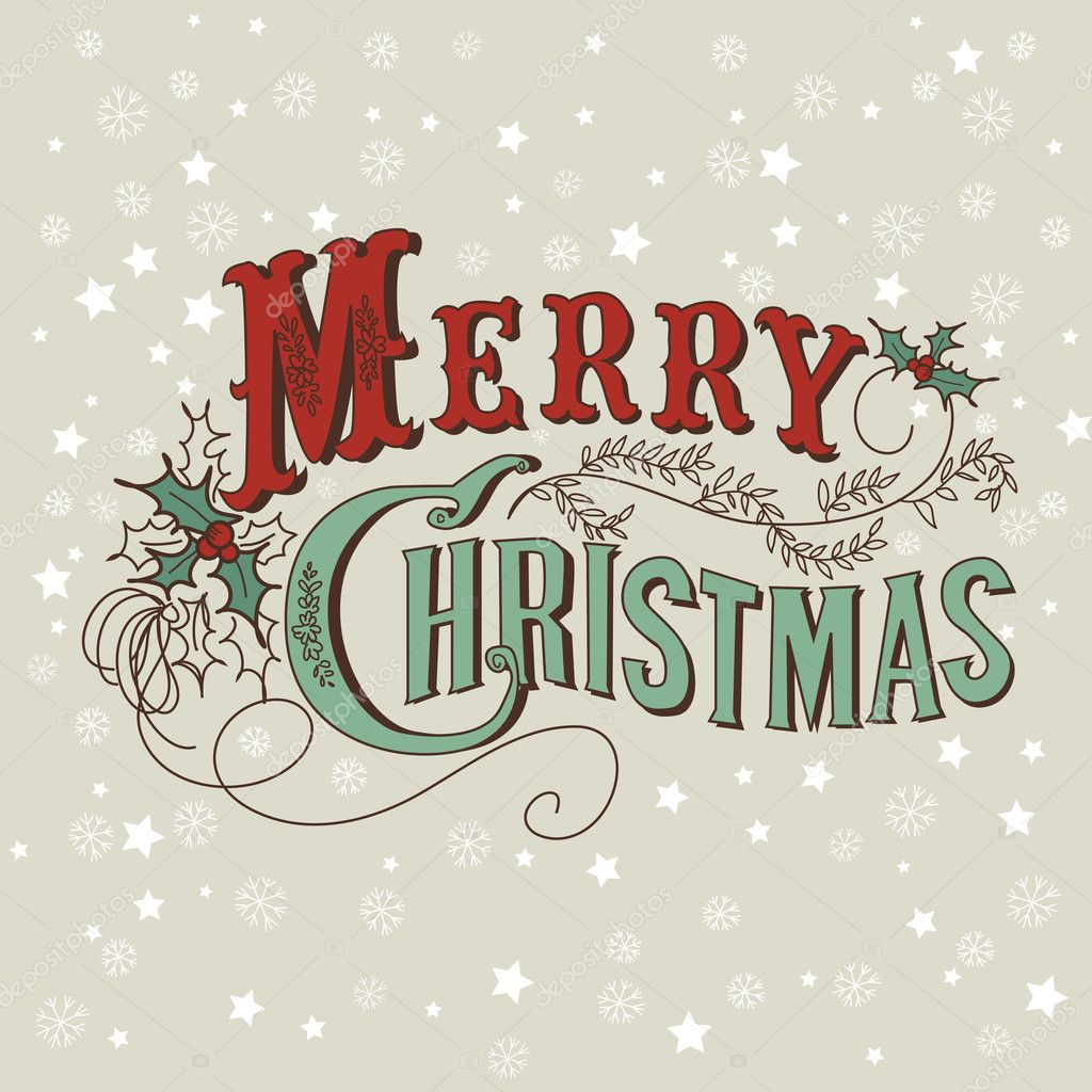 600+ Best Free Merry Christmas Images & New Year Pictures 2021 - depositphotos 34452903 stock illustration merry christmas lettering