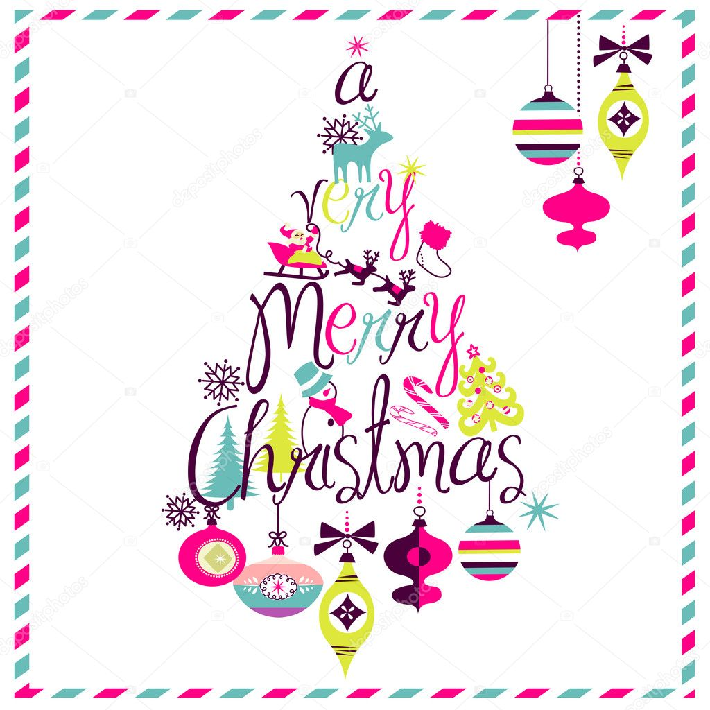 600+ Best Free Merry Christmas Images & New Year Pictures 2021 - depositphotos 34802081 stock illustration merry christmas tree