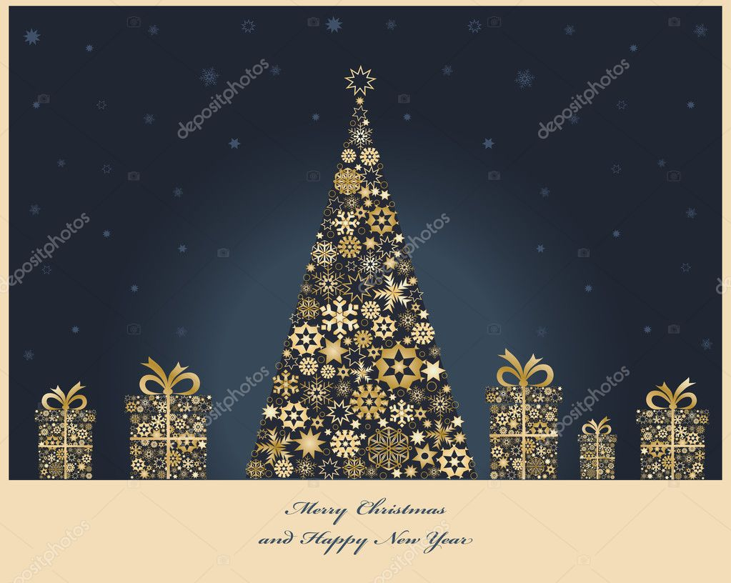 600+ Best Free Merry Christmas Images & New Year Pictures 2021 - depositphotos 37458325 stock illustration christmas tree with cristmas gift