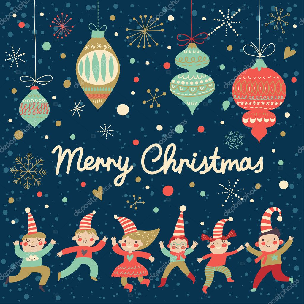 600+ Best Free Merry Christmas Images & New Year Pictures 2021 - depositphotos 44301947 stock illustration vintage merry christmas card in