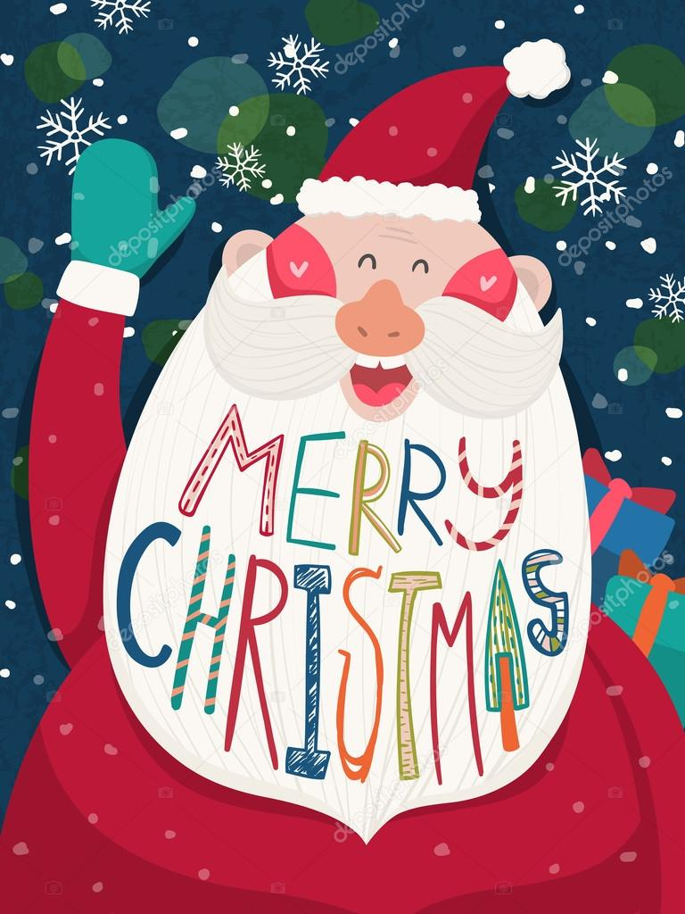 600+ Best Free Merry Christmas Images & New Year Pictures 2021 - depositphotos 52734563 stock illustration merry christmas greeting graphic with