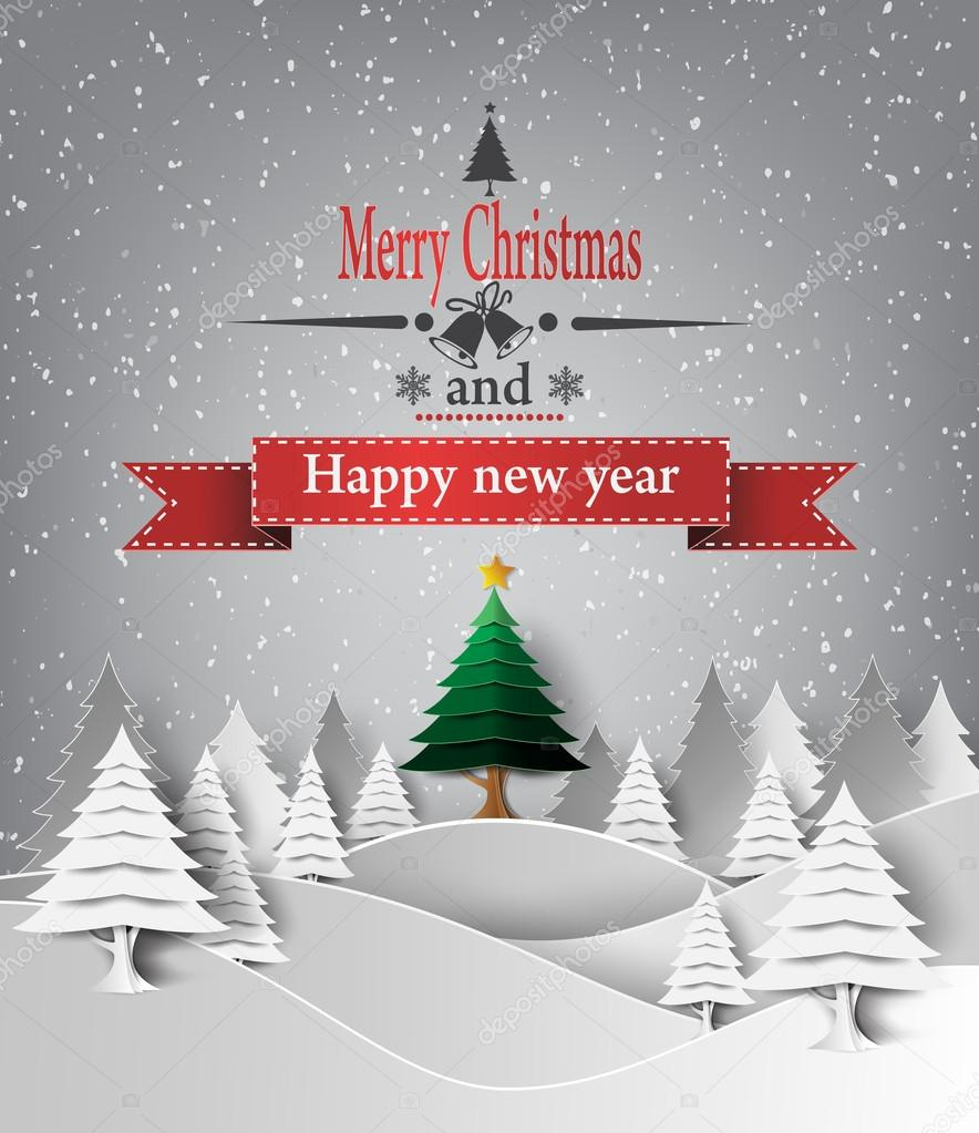 600+ Best Free Merry Christmas Images & New Year Pictures 2021 - depositphotos 57977447 stock illustration merry christmas landscape vector
