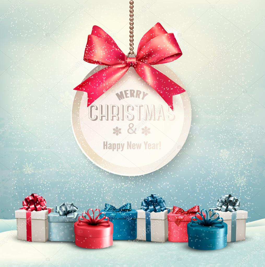 600+ Best Free Merry Christmas Images & New Year Pictures 2021 - depositphotos 58833865 stock illustration merry christmas card with a