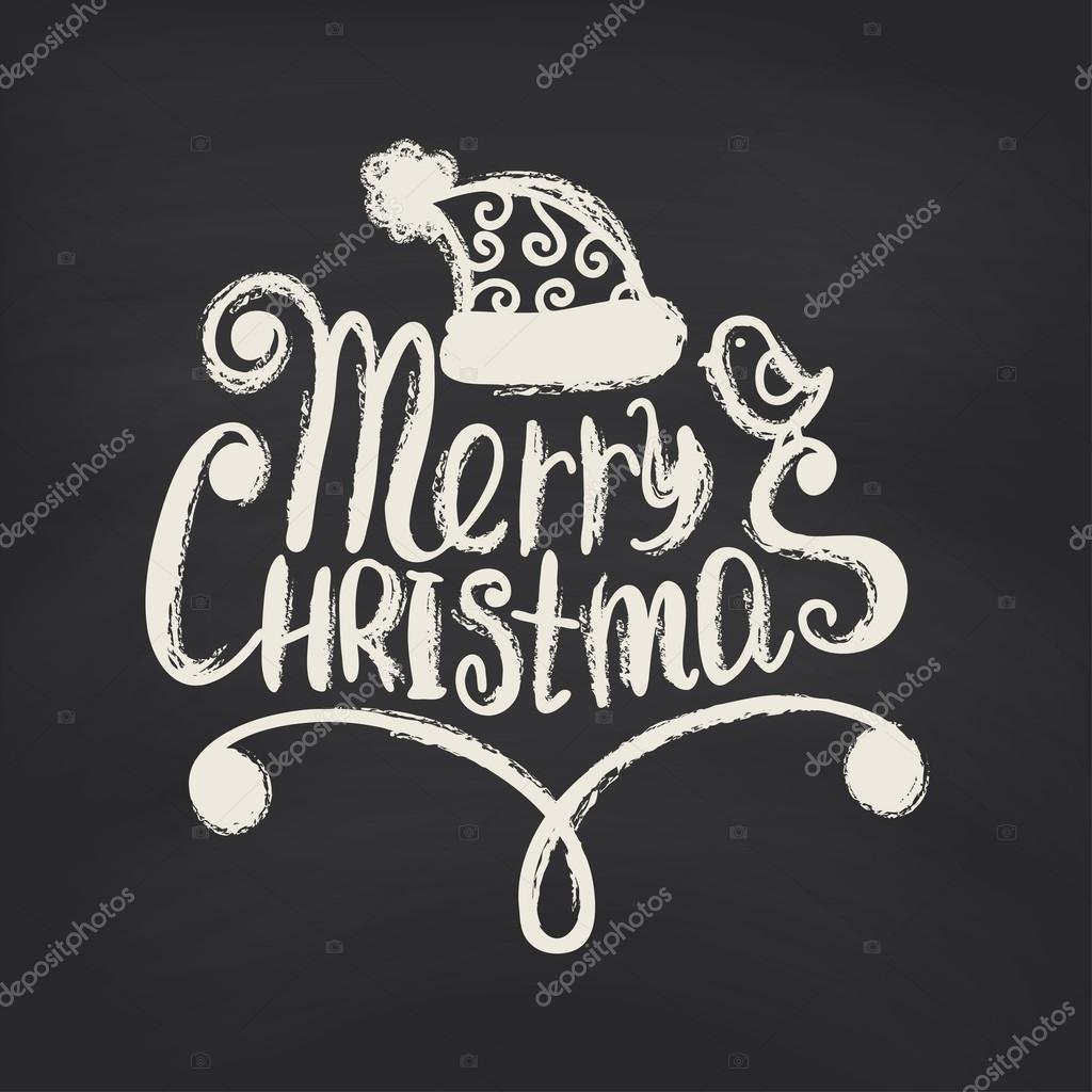 600+ Best Free Merry Christmas Images & New Year Pictures 2021 - depositphotos 59896135 stock illustration merry christmas on blackboard background