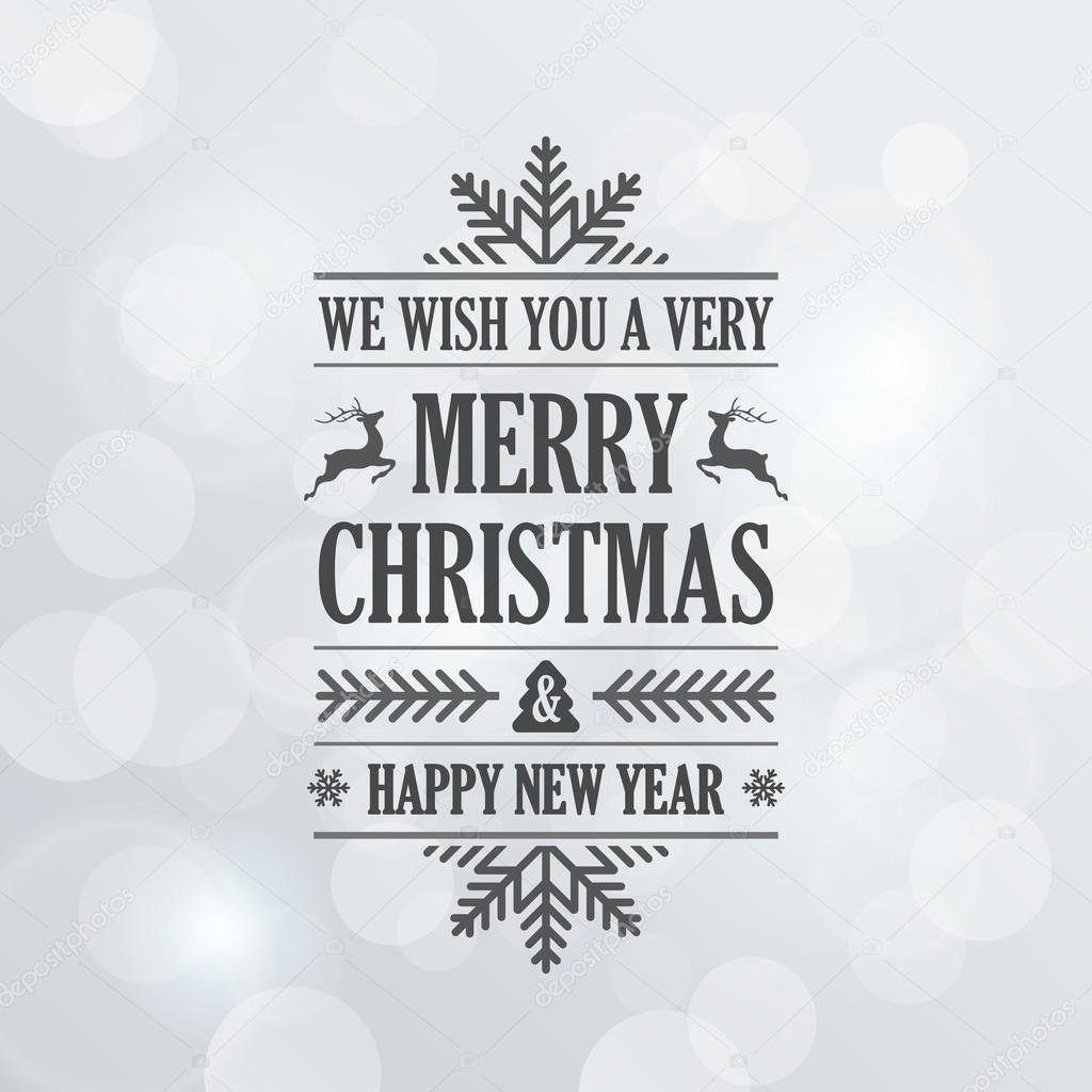 600+ Best Free Merry Christmas Images & New Year Pictures 2021 - depositphotos 60125203 stock illustration merry christmas vintage retro typography