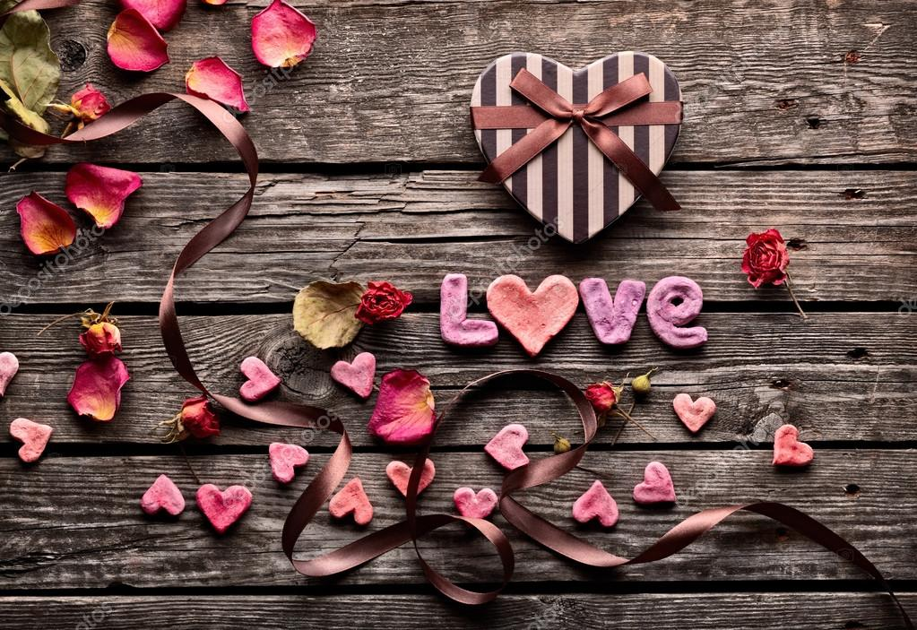 1000+ Free Happy Valentines Day Images - depositphotos 61991259 stock photo word love with heart shaped