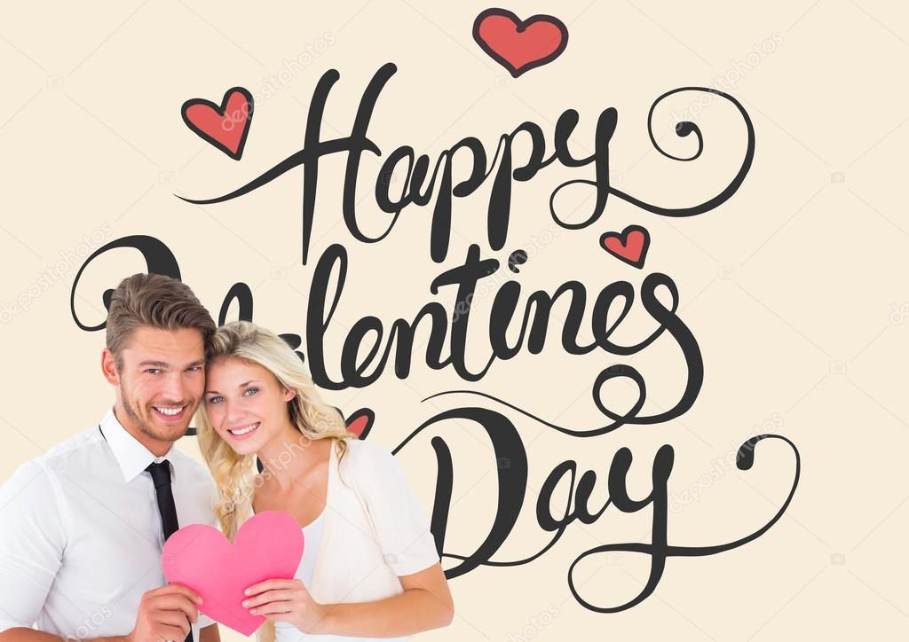 St. Valentines Day Stock Photos & Images. Photo Deal: 100 Royalty-free Photos & Vectors – $69! - depositphotos 64823907 stock photo attractive young couple holding pink