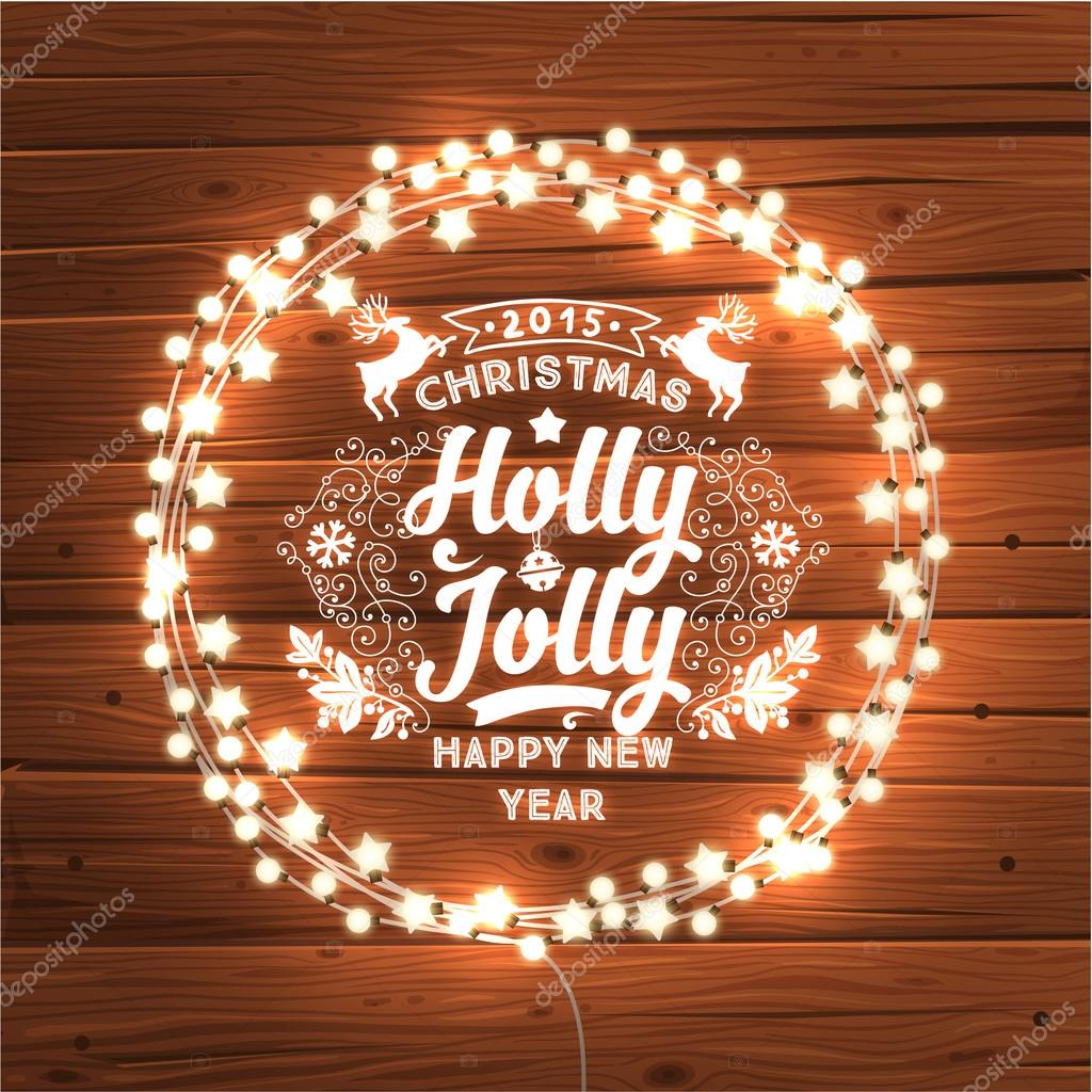 600+ Best Free Merry Christmas Images & New Year Pictures 2021 - depositphotos 70425639 stock illustration glowing christmas lights wreath