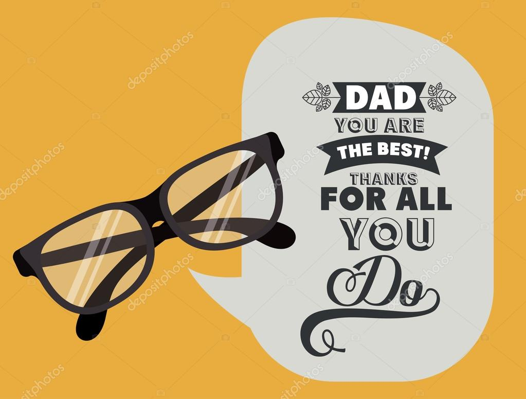 130+ Best Free Happy Fathers Day Graphics 2020: Images, Clipart, Fonts - depositphotos 70449505 stock illustration fathers day design