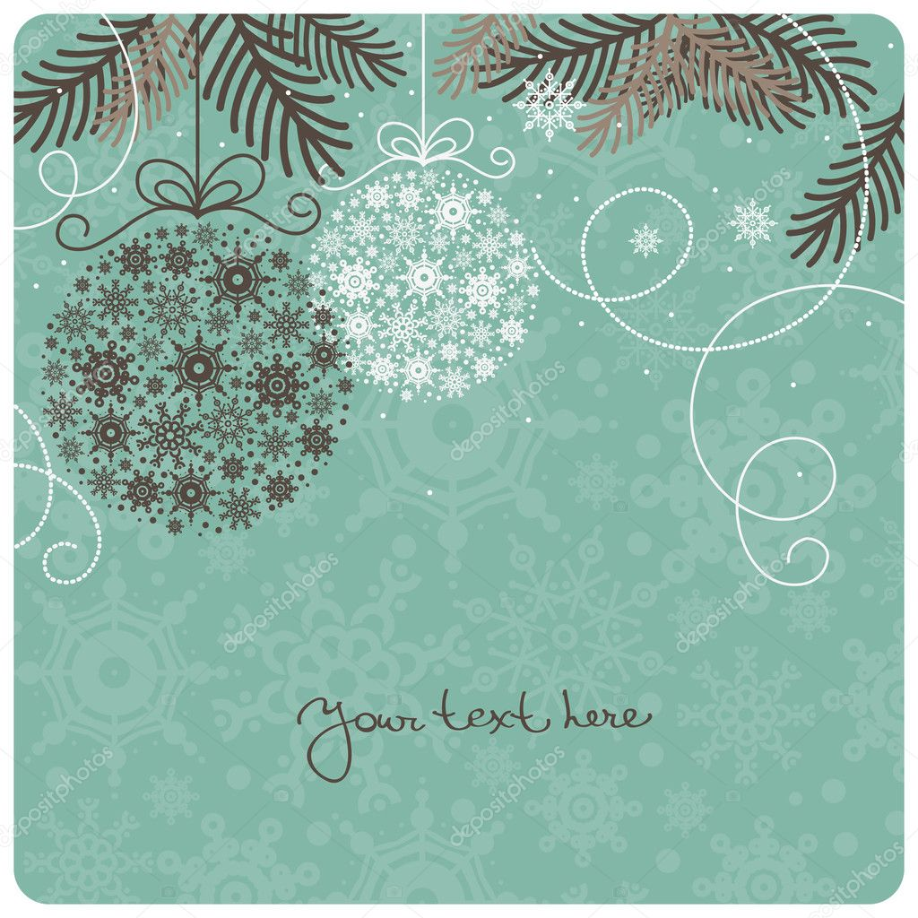 100 Winter Backgrounds: Prepare Your Designs for the Winter Season - depositphotos 7316912 stock illustration retro christmas background