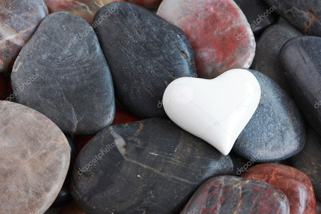100+ Free Heart Background Vectors, Photos and PSD files: Make your website lovely - depositphotos 8555629 stock photo white heart surrounded by stones
