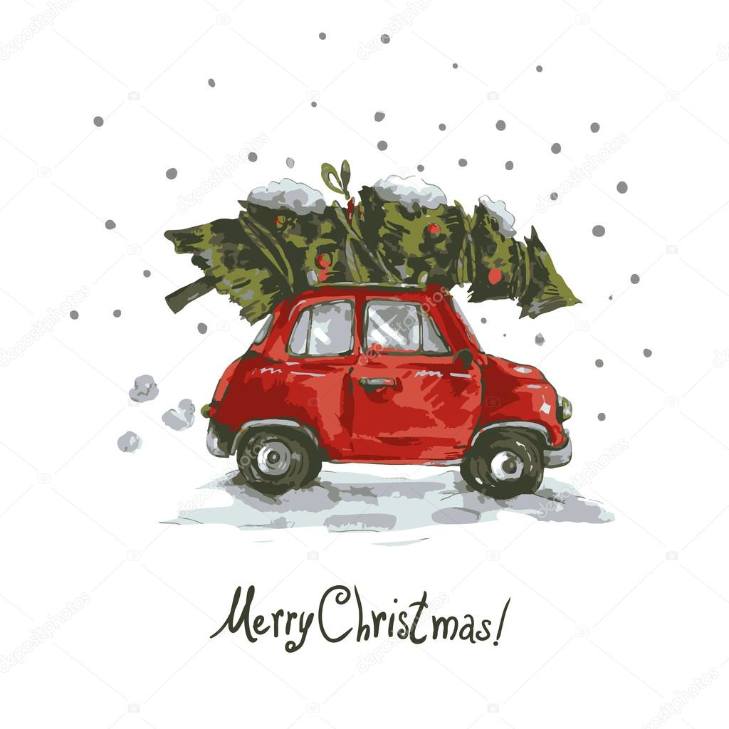600+ Best Free Merry Christmas Images & New Year Pictures 2021 - depositphotos 85597246 stock illustration vintage vector winter greeting card